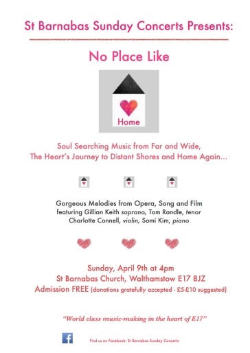 St Barnabas No Place Like Home Poster